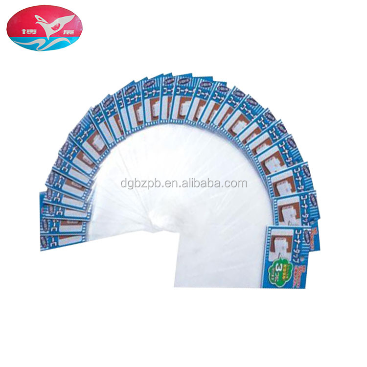 Hot sale color printing plasti changing header opp self adhesive bag for Card packaging