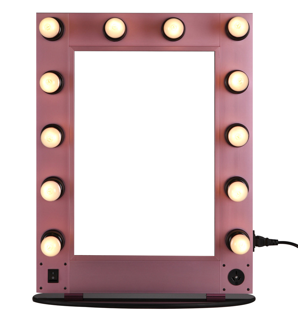 Hollywood Style Make Up Mirror With Led Lights Lighted