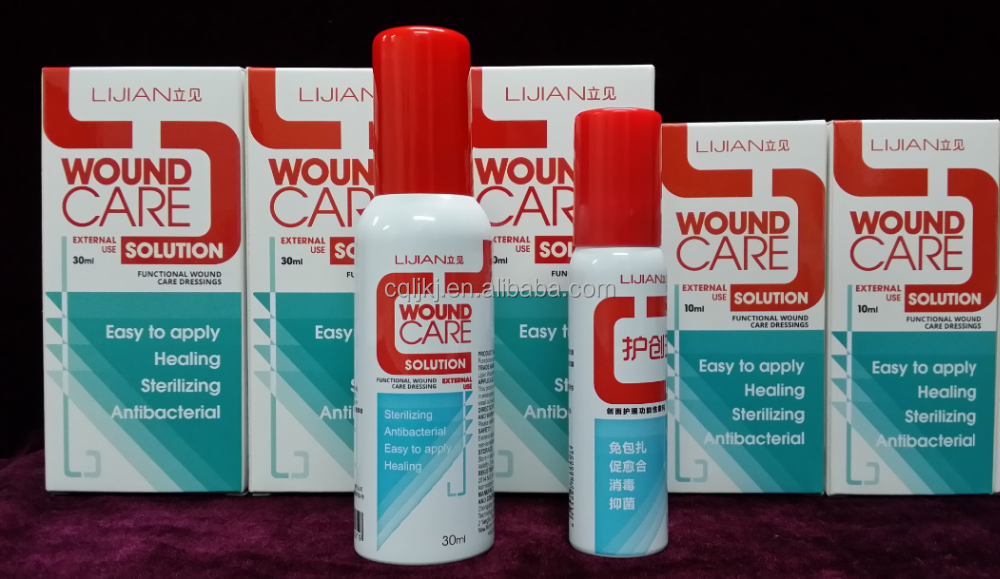 Easy care anti-infection liquid sprays for surgical solution and wound care and itching
