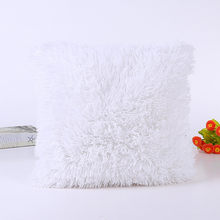 Новая черная подушка, одноцветная, мягкая, плюшевая, искусственный мех, диван, талия, наволочка, наволочка для дивана, автомобильного кресла,...(Китай)
