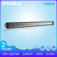 "2016 New arrival best quality 4 wheeler atv off road light bar 42"" 240w led bar lighting"