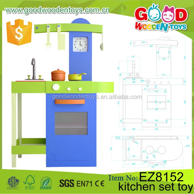 Promotion wooden kitchen set toy oem odm children gift for Kitchen set game