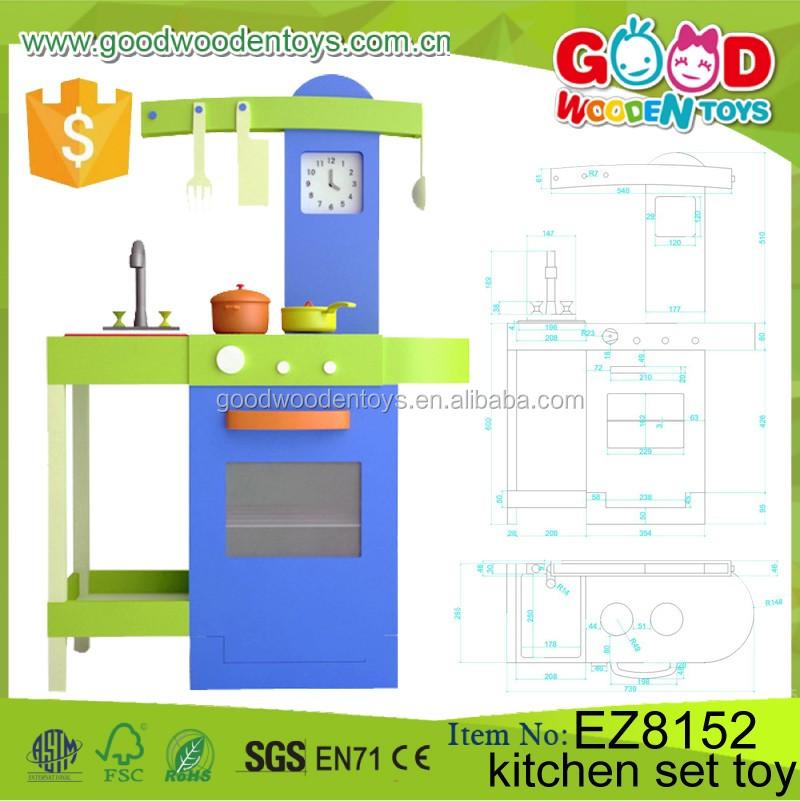 Promotion wooden kitchen set toy oem odm children gift for Kitchen set wala game