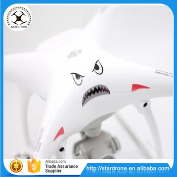 Waterproof shark decal sticker for dji phantom 3 4 advanced pro plus accessories