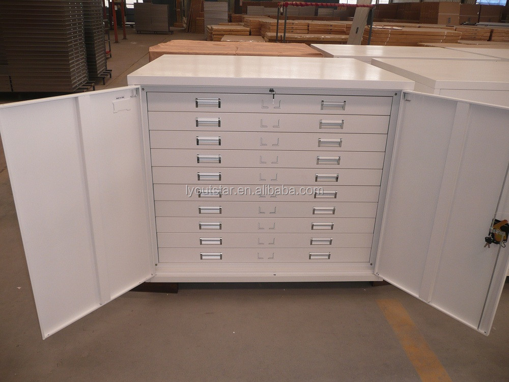 Unique KD Structure Steel Map Paper Cabinet Thin Drawer Cabinet