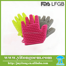 Hot sale pet products durable silicome dog grooming pet gloves