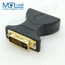 DVI 24 + 5 Male to 3 RCA Female M to FM Adapter Converter