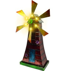 decoration metal price garden bearing solar light windmill