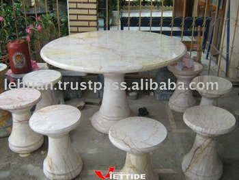 Superieur In Outdoor Marble Table Set   Buy Marble Table Set,Stone Table Set,Marble  Patio Sets Product On Alibaba.com