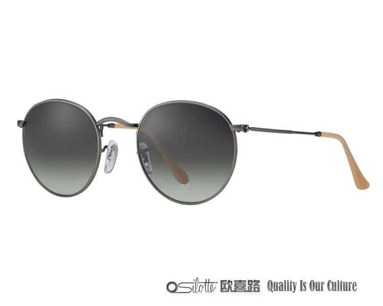 Haute qualité or en métal rétro lunettes de soleil no logo lunettes de soleil  rondes 6651982e2704