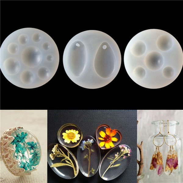 Cheap Wholesale Round White 8.4cm Silicone Resin Mold