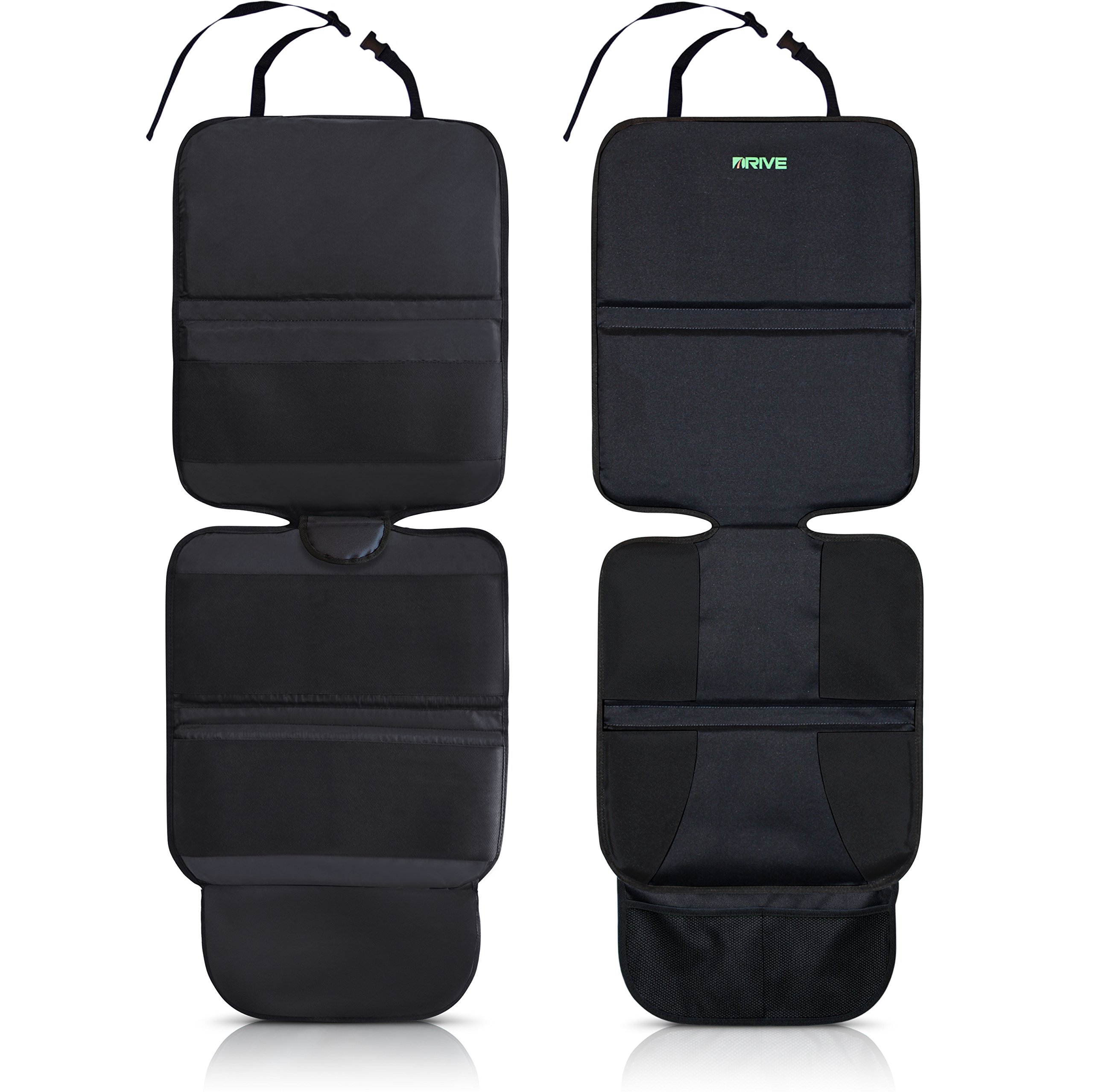 Drive Auto Products Car Seat Protector (2-Pack) by, Black - Ultimate Neoprene Backing is Best Protection for Child & Baby Cars Seats, Dog Mat - Cover Pad Protects Automotive Vehicle Upholstery