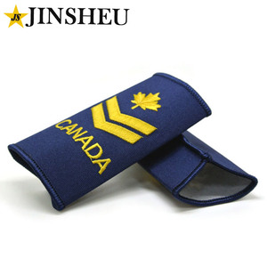 custom canada embroidery arm bullion gorget patches