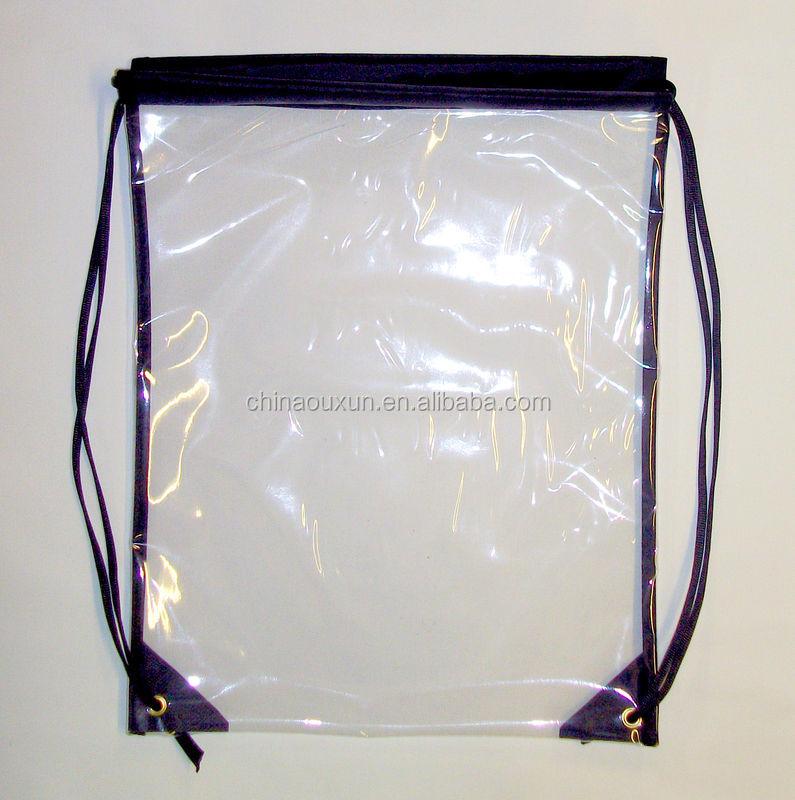 Factory Direct See Through Drawstring Bag
