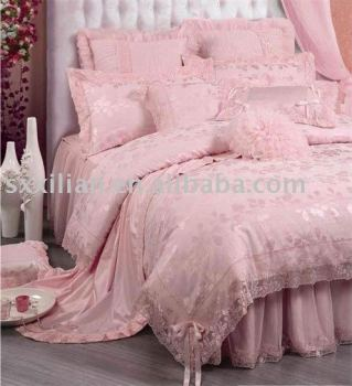 Luxury Silk Jacquard Bedding Sets Wedding Set Duvet Cover