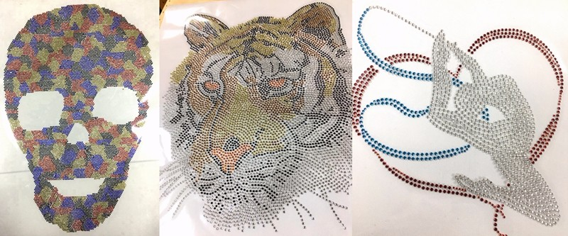 50 pieces/Lot Wildcats Iron On Rhinestone Transfer For T Shirts
