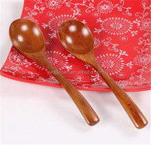 high quality long handle wooden cooling spoon