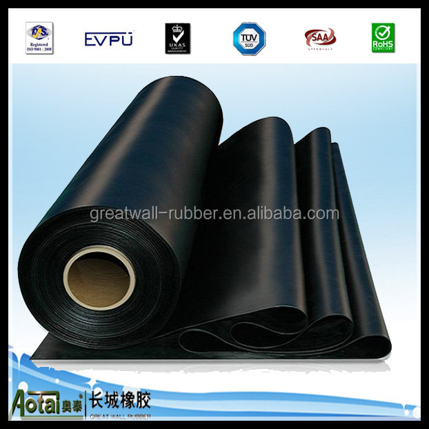 Manufacture All Kinds Of Industrial 3mm-50mm Rubber Sheet NBR SBR SILICON VITON EPDM BUTYL CR rubber sheet through iso9001