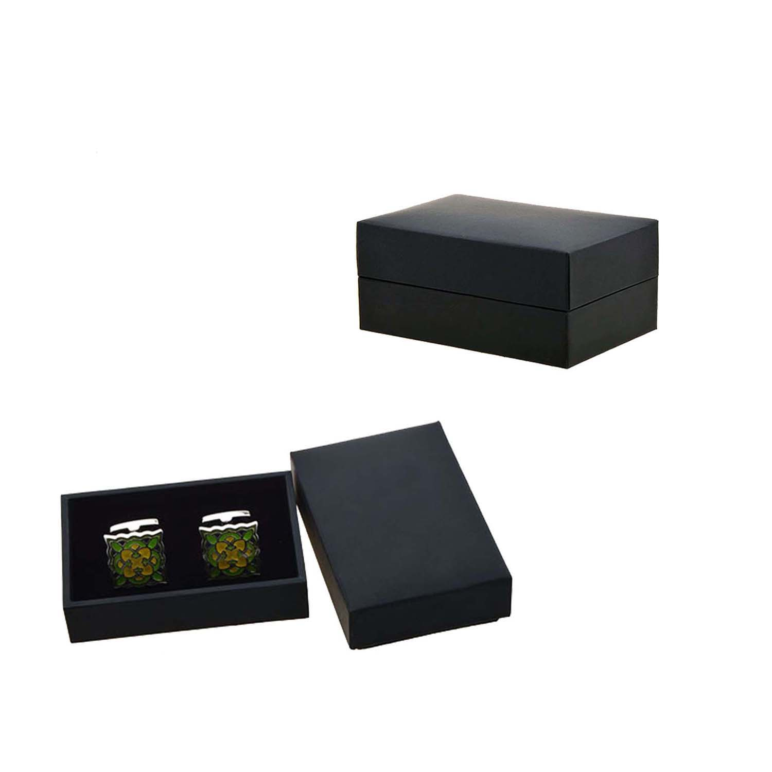 Classical Brown  Crocodile Style Male's Jewelry Box Leather Cufflink Box