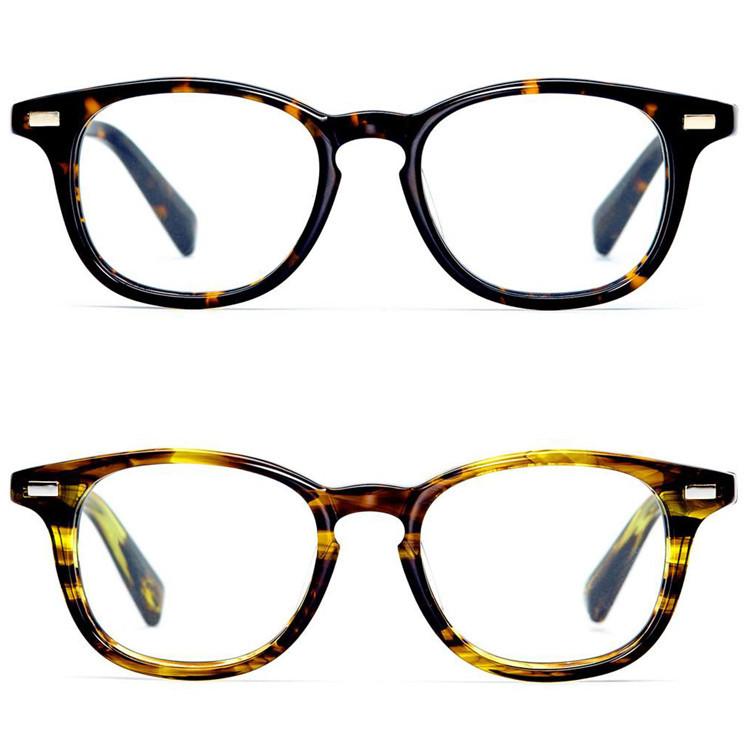 Customize Acetate Eyeglasses Frame With Metal Logo - Buy Eyeglasses ...