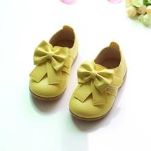 65f13f10 Casual zapatos de los niños zapatos de Color caramelo de princesa niñas  otoño nueva moda Bowknot