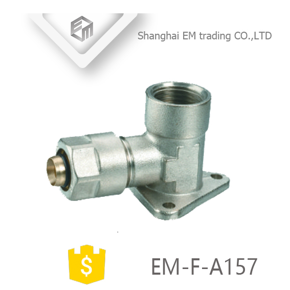 EM-F-A157 High quality brass nickel plated fixable Aluminum plastic pipe fitting