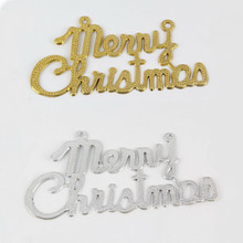 Fashion festive hanging decoration plastic merry christmas sign