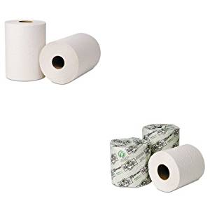 KITWAU46300WAU54900 - Value Kit - Wausau Paper Green Seal Hardwound Roll Towels (WAU46300) and Wausau Paper EcoSoft Green Seal Bathroom Tissue (WAU54900)