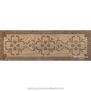 180x540mm Border Accessories Wood Look Flower Ceramic Floor Tile
