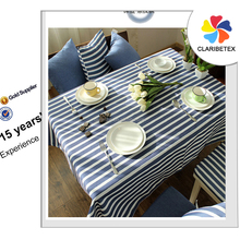 hot sale fancy 100%cotton navy blue stripe table cloth chair cover