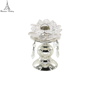 Romantic lotus shape cup cover small candle holder fine wedding table decoration
