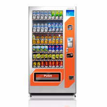 Refrigerated water vending machine drink or snack vending machine combo vending machine China manufacturer supplied