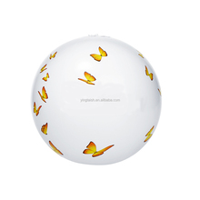 Butterfly printed beach ball inflatable for promotional