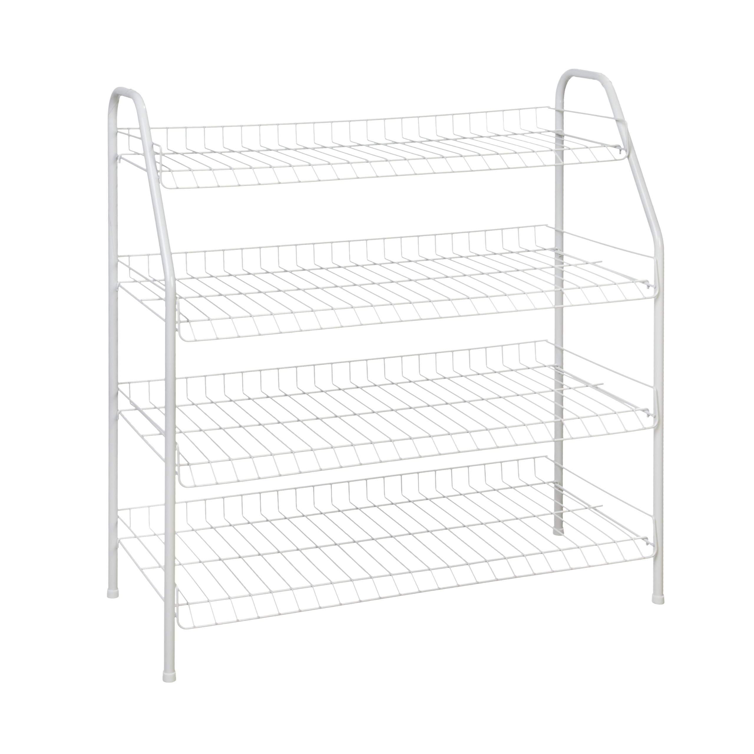 Get Quotations · ClosetMaid 8131 4 Tier Freestanding Shoe Rack, White