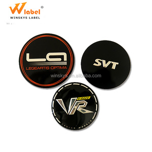Special design custom metal brand logo car sticker label
