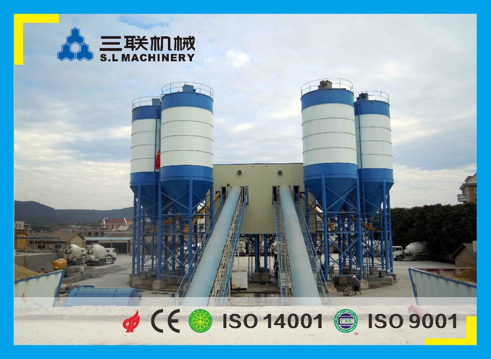 high technology stationary concrete mixing plant for sale in china