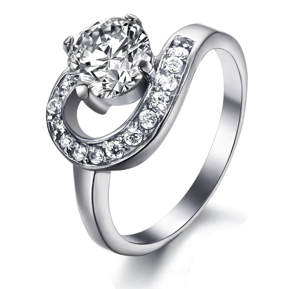 Hot Sale Beautiful Romantic Engagement Ring For Girlfriend 925 ...