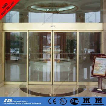 Walk Through Gate Glass Tempered Automatic Sliding Door With