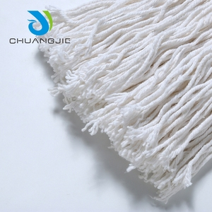 Practical cotton polyester wet mop parts head for floor clean