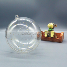 Fashion Christmas gift wholesale clear plastic ball Christmas ornaments