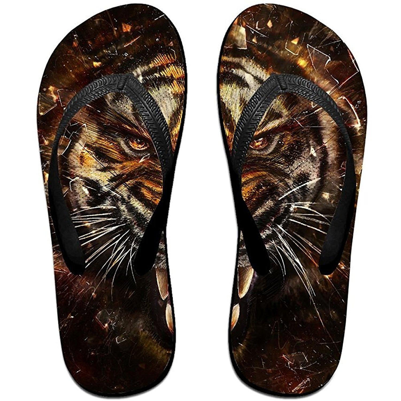 Starmiami Unisex V Flip Flops Animal Artistic Tiger Print Styl Personalized Summer Slipper