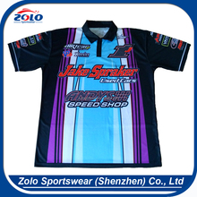 Cheap custom logo dye sublimation polo shirt