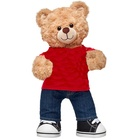 Promotional Children Room Bedding Wearing Casual Wear Standing Brown Plush Bear