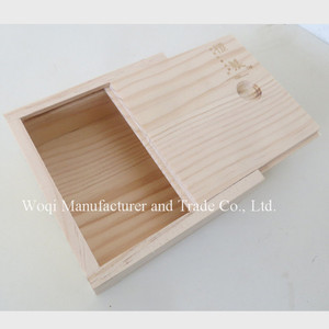 2017 High quality Chinese Wooden Wholeasale tea storage box raw wood simple designed tea jewelry packaging box
