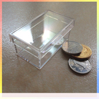 50*30*23MM custom design small clear jewelry gift plastic saffron packaging box