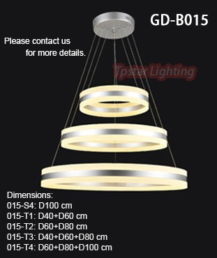 Led Chandeliers Pendant Light Acrylic Ceiling Lamp Fixtures With ...