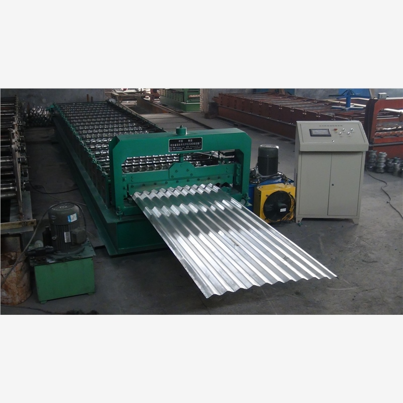 precoated plate motorway guard rail forming machine