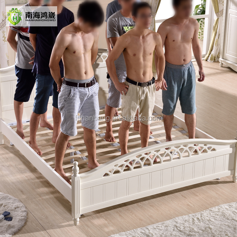 Latest White Simple Design Wooden MDF Bedroom Furniture