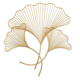 Handmade Gold metal Gingko Leaves Wall art for Home Decoration