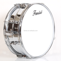 High Grade Snare Drum with hammered Stainless Steel Shell
